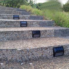 Great Idea For Uplighting Your Garden   Solar Step Light   Home Exterior  Design   Pinterest   Solar Step Lights, Solar And Gardens
