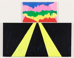 "Mary Heilmann, ""Surprise"" (2012). Oil on canvas, 37.75 x 47.5 inches"