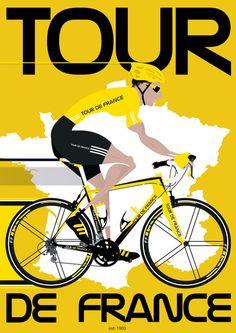 Tour De France Art Print MAKETRAX.net - Bicycle Posters