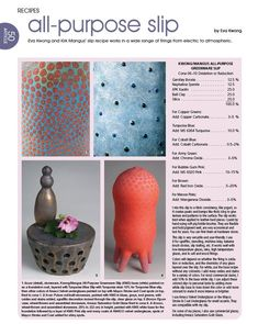 Recipes: All-Purpose Slip - Ceramic Arts Network
