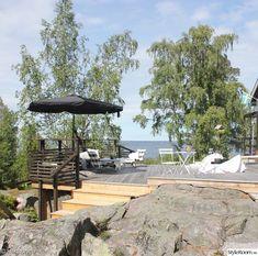 altan,terass,lärkträ Balcony, Patio, Outdoor Decor, Image, Home Decor, Terrace, Homemade Home Decor, Yard, Porch