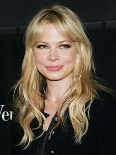 Michelle Williams - Curtain bangs: les stars nous inspirent #BangsHairstylesSideswept