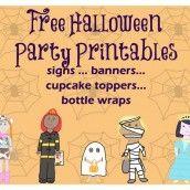 Free Treat Kids Halloween party printables