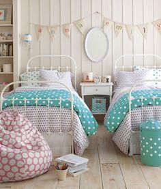 Cottage Style Polka Dot Bedroom