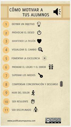 Cómo motivar a tus alumnos siguiendo 11 recomendaciones- Infografía.   Ideas Para la Clase.com