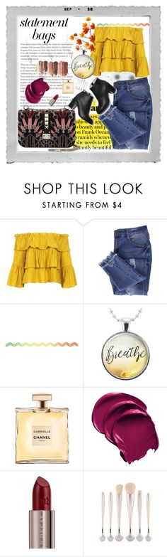 """""""Carry on: Statement bags"""" by decor4 ❤ liked on Polyvore featuring Polaroid, Sans Souci, Essie, Urban Decay and tarte"""