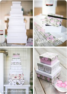 DIY Romantic boxes—with paper & fabric tape❣ Craft & Creativity