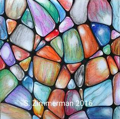 Gems/polished stones original ZIA SZimmerman Jan. 2016