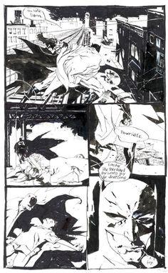 kent williams comics | Williams, Kent Batman Black & White page Comic Art