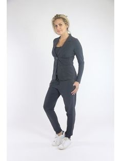 Studio Anneloes blazer Clear Dark Grey