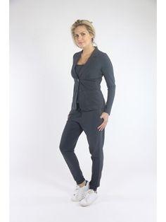 Studio Anneloes blazer Clear Dark Grey