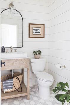 Double Sink Bathroom, Bathroom Sink Vanity, Wood Vanity, Downstairs Bathroom, Bathroom Renos, Small Bathroom, Bathroom Ideas, Neutral Bathroom, Master Bathrooms