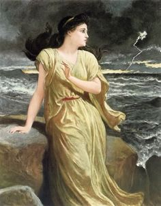 "Frederick Goodall, Miranda (1888) (From ""The Tempest"")"