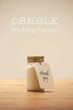 Candle wedding favour - startedatcarlile.com