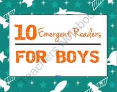 10 Printable Early Reader Books for Boys from PlaydoughToPlato on TeachersNotebook.com -  (38 pages)  - 10 printable, boy-friendly easy reader books and matching reading pointer decals that use predictable text and strong picture-text connections to give boys confidence reading on their own.