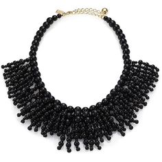 Kate Spade New York Fringe Appeal Necklace (€64) ❤ liked on Polyvore featuring jewelry, necklaces, apparel & accessories, black, black fringe necklace, kate spade jewelry, strand necklace, black bead necklace and kohl jewelry