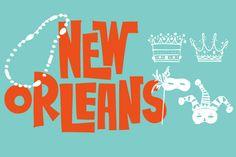New Orleans Doodles by Outside The Line - Desktop Font, WebFont and Mobile Font available at YouWorkForThem.
