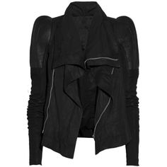 Rick Owens Robot textured-leather jacket ❤ liked on Polyvore