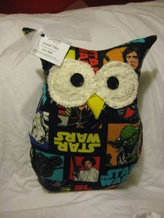 Hooters Stuffed Owl Pillow featuring  Star Wars by sweetpitas, $14.00
