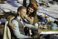 snow day tea party engagements #arkansas #engagements