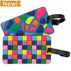 Set of Luggage Tags Jewel Mosaic ** Click image for more details.Note:It is affiliate link to Amazon.