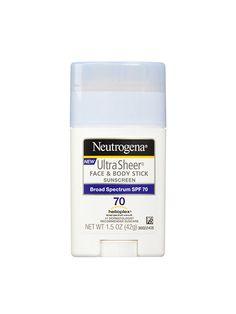 Neutrogena Ultra Sheer Face & Body Stick Sunscreen Broad Spectrum SPF 70