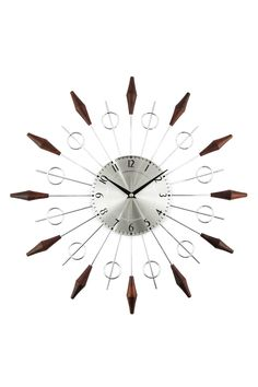 Control Brand - George Nelson Noyes Wood & Silver Mid Century Clock is now 67% off. Free Shipping on orders over $100.
