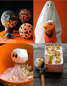Halloween ideas - top right, that as a statue would be so creepy!!!