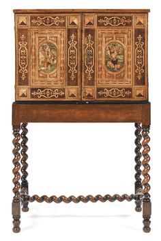 A German late Renaissance fruitwood marquetry table cabinet circa 1600 | Lot | Sotheby's