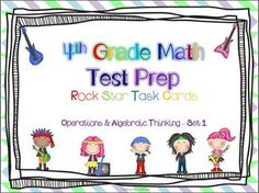 Are your students prepared for the state tests? By practicing the Common Core Standards, your students will be sure to rock the test. 4th Grade Math Test, Fourth Grade, Fun Math, Math Activities, Test Taking Skills, Constructed Response, New Classroom, Classroom Ideas, Test Prep