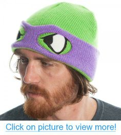 Teenage Mutant Ninja Turtles Purple Reversible Rolled Beanie