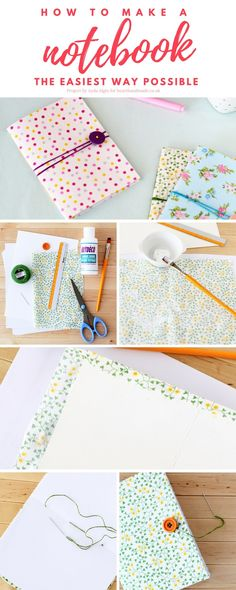 Have you been searching how to make a notebook so that you can create back to school supplies in bulk & it won't cost a fortune? Or do you just need some super cute notebooks for your home office? If you're obsessed with stationery then you will love this custom fabric notebooks tutorial! http://www.hearthandmade.co.uk/how-to-make-a-notebook/