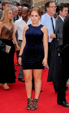 Tanya Burr at the premier of The expandables 3 Navy Mini Dresses, Formal Dresses, Tanya Burr, Duchess Of Cambridge, Duchess Kate, Classic Hollywood, Pretty Shoes, Classy And Fabulous, Fashion Outfits