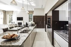 Modern Luxury Kitchens For A Grand Kitchen Home Design, Luxury Kitchen Design, Design Your Kitchen, Contemporary Kitchen Design, Luxury Kitchens, Black Kitchens, Cool Kitchens, Custom Kitchens, Contemporary Bedroom