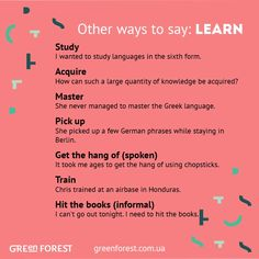 Other ways to say: Learn