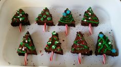 Christmas Tree Brownies! Super easy to make!!