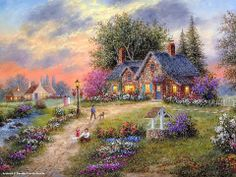 Cottages - Cottage Paintings