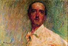 Plinio Nomellini (Italie, 1866-1943) – Autoritratto