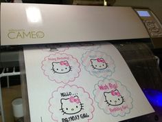 Instant Download Hello Kitty Print & cut! .STUDIO file included #cameo #silhouettecameo #silhouetteamerica