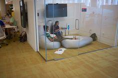 Group study with bean bags - James B. Hunt Jr. Library - North Carolina State University NCSU