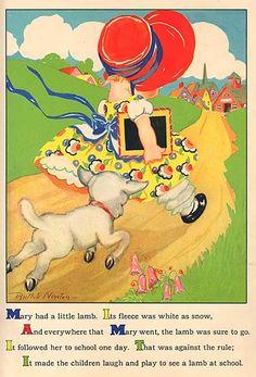 Vintage 1930's Nursery Rhyme Illustration by kelleystreetvintage