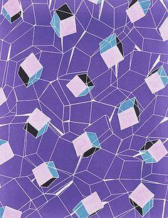 Textile Design, 'Prisms' by Elza Sunderland, circa 1948