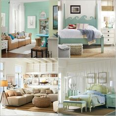 Beach house decor...I want to make that wave headboard for every bedroom!!