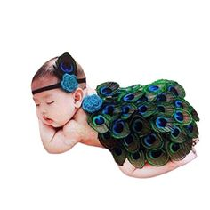 Chinatera Newborn Baby Girls Boys Photo Photography Prop Cute Peacock Handmade Costume Headband Cloak * More info could be found at the image url.