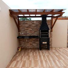 Home Design Decor, Home Room Design, Modern House Design, Outdoor Garden Sheds, Backyard Patio, Outdoor Fireplace Patio, Outdoor Patios, Outdoor Fireplaces, Outdoor Rooms