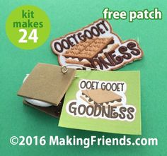 """Girl Scout Swaps Craft Kit """"Gooey Smores"""" with Free Patch!"""