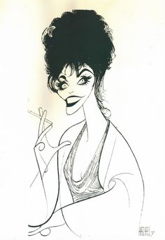 al hirschfeld caricature of Joan Collins