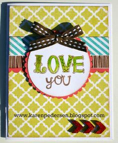 CTMH - Love You Card with the July Stamp of the Month