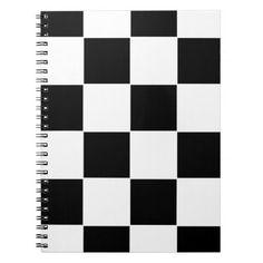 Chequered Board Spiral Notebook