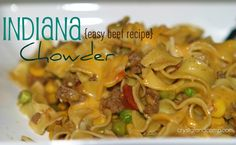 Beef recipes: indiana chowder a 30 minute meal